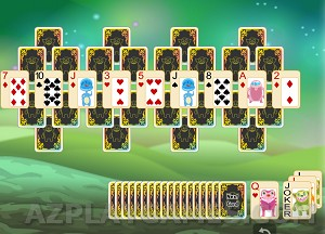 Play Alien Pyramid Solitaire